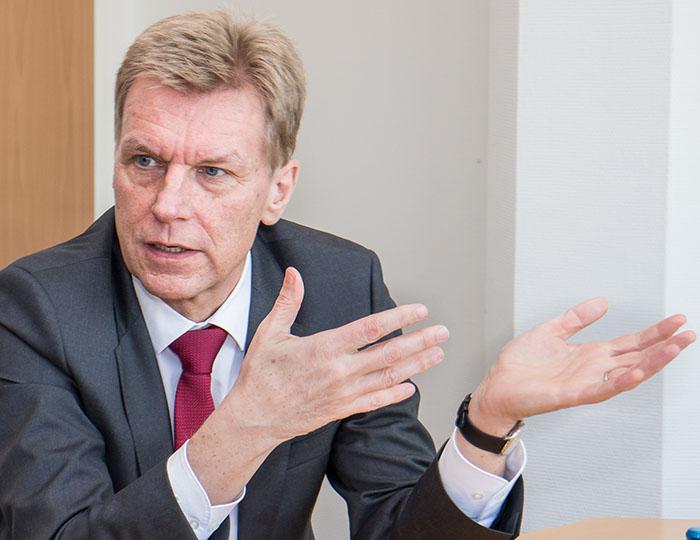 Marcel Thimm, Chef der Freiburger Sparkasse