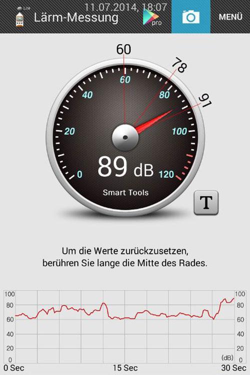 Lärmmessung am Münster mit der App