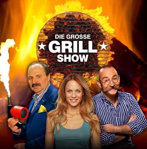 """Das Trio für den Grill (von links): Johann Lafer, Mirjam Weichselbraun und Horst Lichter führen durch """"Die große Grillshow"""" im ZDF."""