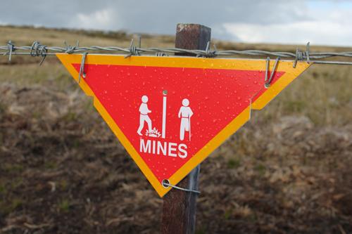 Warnung vor Minen auf den Falklands