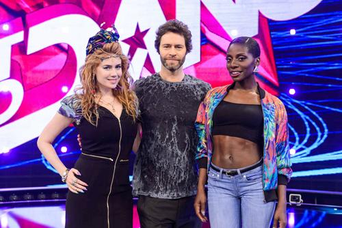 Suchen auch in diesem Sommer wieder Deutschlands besten Dance Act (von links): Entertainerin Palina Rojinski, Take That-Star Howard Donald und Star-Choreografin Nikeata Thompson.