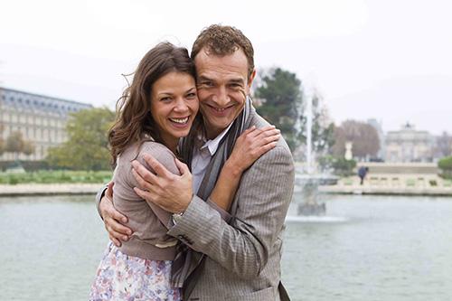 Szene mit Jean-Yves Berteloot und Jessica Schwarz.