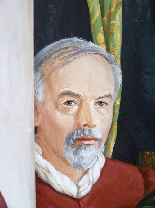 Verewigt im Shakespeare-Fresko: Dietrich Schwanitz.