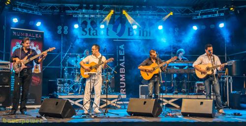 Die Gipsy-Kings-Coverband Rumbalea. Foto: Bauerpower