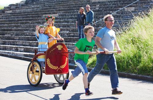 Das etwas andere Streitwagenrennen beim Römerfest der Augusta Raurica am 31. & 31. August.