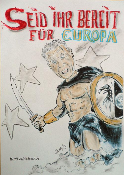 Sparta-Streich. Zeichnung: Harry der Zeichner.