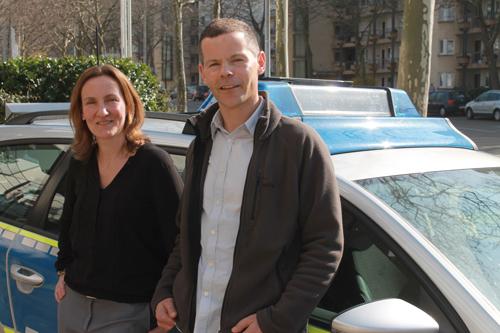 Keine homosexuellen Polizisten, sondern Polizisten und homosexuell: die Polizeiberater Danila Matusche und Rainer Ledwig.