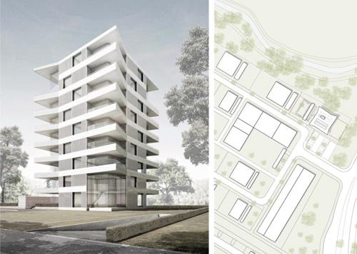 Solitär: An markanter Stelle im Freiburger Neubaugebiet Gutleutmatten soll auch ein markantes Gebäude gebaut werden.