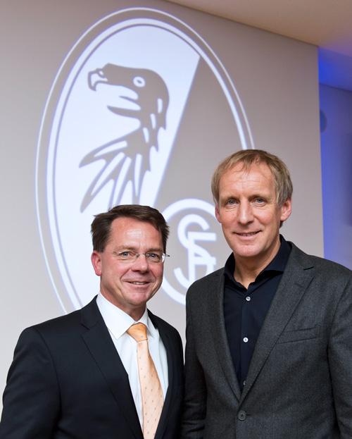 Banker und Psychologe: Volker Spietenborg mit und Hans-Dieter Hermann ohne Schlips