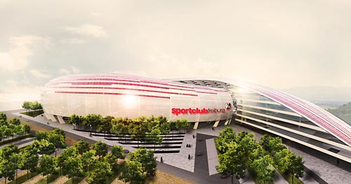 So sieht's aus? Nein, das ist kein realer Plan für die Arena, sondern der Entwurf des Lahmer Architekten Daniel Löprich.
