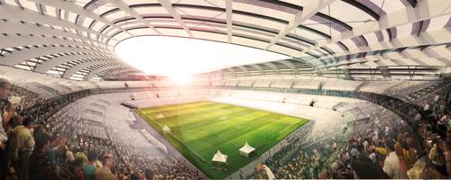 So könnte es im Stadion aussehen.