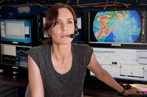 Meteorologin Allison (Sarah Wayne Callies) sucht Tornadogebiete für Geld und die Wissenschaft.