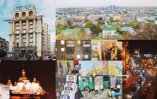 Voller Kontraste: Kiew wandelt zwischen europäischer Metropole und Relikten der Sowjetunion. An Souvenirständen gibt's Putin-Klopapier.