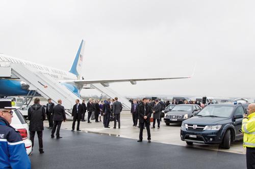 Ein besonderes Ereignis: Während der OSZE-Konferenz landeten am 4. Dezember 2014 15 Staatsflugzeuge am EAP, unter anderem die Airforce 2 der Amis.