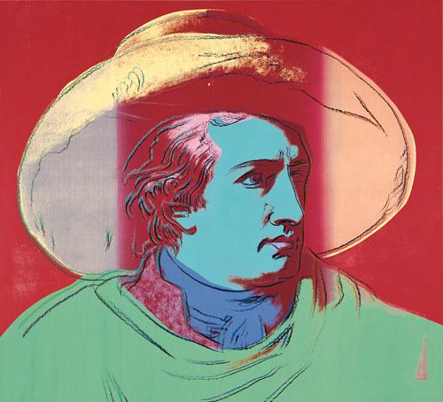 Farbflash: Den großen Goethe hat Warhol mit viereinhalb Quadratmetern Acryl auf Leinwand verewigt. Sammlung Siegfried und Jutta Weishaupt.