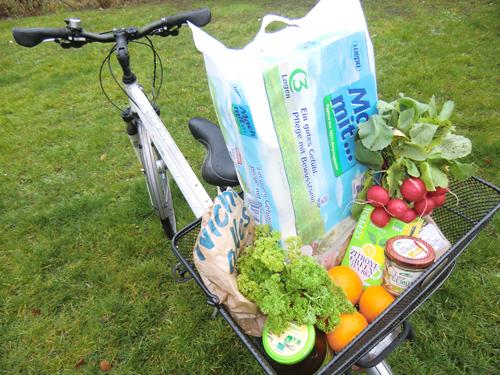 BUZ: Mit dem Fahrrad zum Bioladen: eine der leichteren Aufgaben.