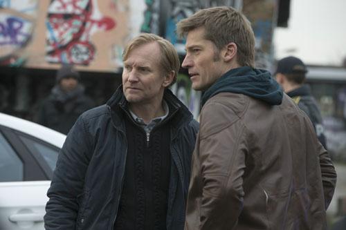 Cop-Kollege Simon (Ulrich Thomsen, links) ahnt, dass Andreas (Nikolaj Coster-Waldau) ein Unrecht vertuschen will.