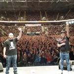 Es geht steil nach oben: Rapper Cossu, hier mit seinem Produzenten Edoardo Tarantiono (li.), begeistert die Bülent-Ceylan-Fans.