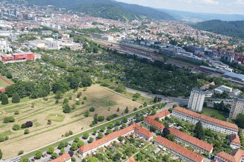"""Ein Tropfen auf den heißen Stein: Das Neubaugebiet Gutleutmatten bietet zwar mehr als 500 neue Wohnungen – angesichts der Entwicklung der """"Schwarmstadt"""" Freiburg werden die aber nur wenig Druck aus dem Kessel lassen."""