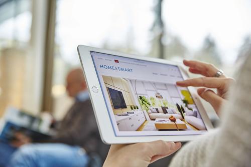 Hightech: Per Klick das Zuhause steuer.