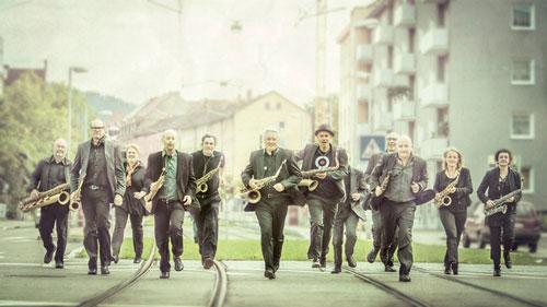 Les Saxofous spielen am 22.7. bei der Perry-Robinson-Nacht