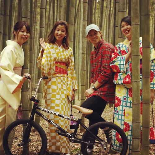 Das Bild entstand in Japan, wo Böhm Ende Oktober an der Weltmeisterschaft im BMX-Flat teilgenommen hat.