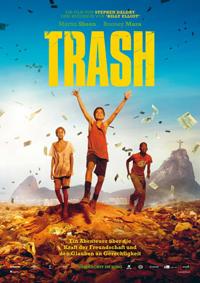"""""""Trash"""" bietet eine sozialromantische Detektivgeschichte um drei Teenager von einer brasilianischen Müllkippe, die einem Korruptionsskandal auf die Spur kommen."""